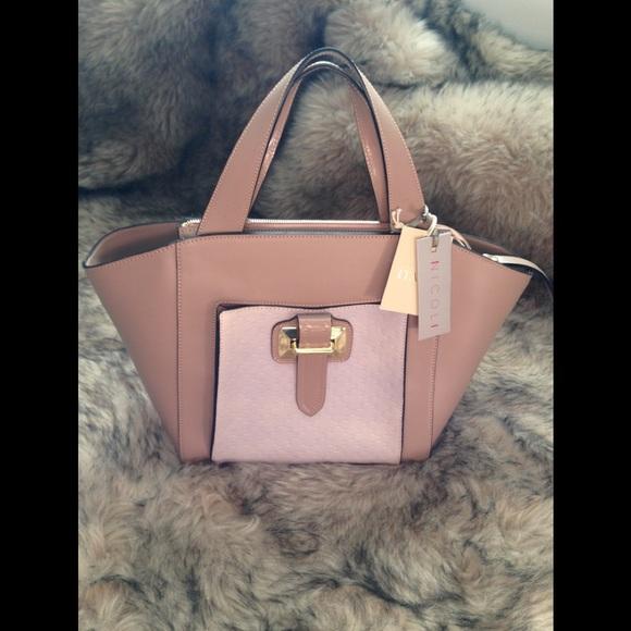 841bb834b8 Italian Leather Handbag. NWT. NICOLI